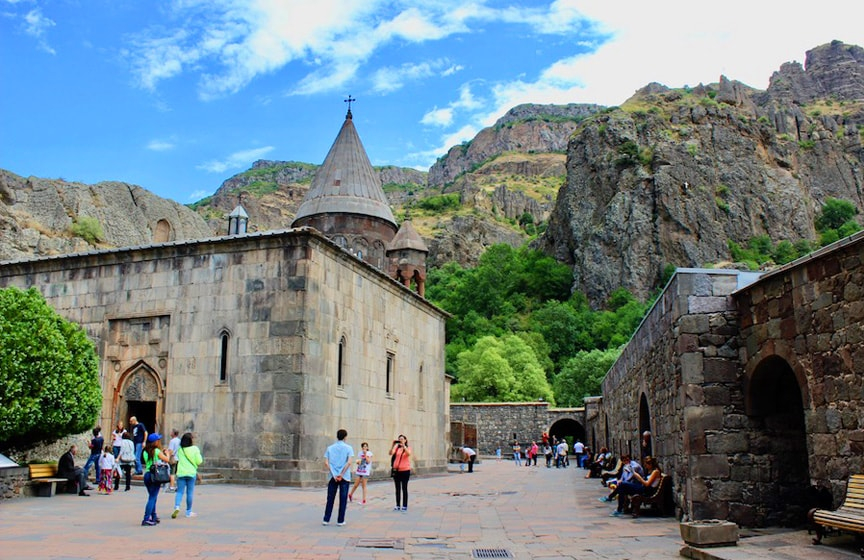 MUST-GO places in ARMENIA🇦🇲2. There are so many UNESCO sites in Armenia but the closest to Yerevan is Geghard monastery partially cut into the rock, which illustrates the very peak of Armenian medieval architecture.